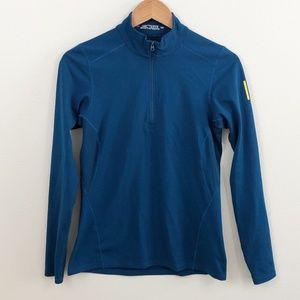 Arc'tyrex Blue Long Sleeve Half Zip Base Layer
